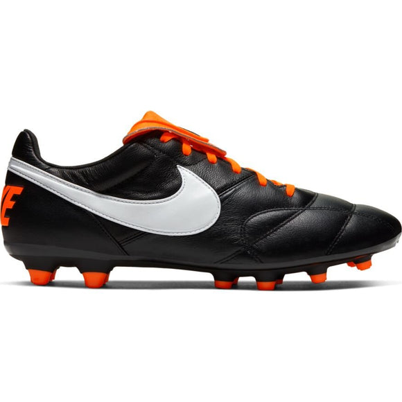 Nike Premier II FG Firm Ground Soccer Cleat Kangaroo Leather Black Orange