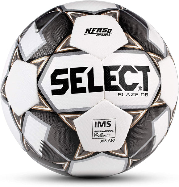 Select Blaze DB Dual Bonded Soccer Ball White/Black/Gold