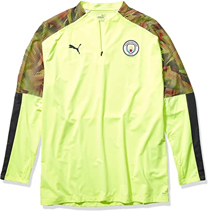 PUMA Men's Manchester City MCFC 1/4 Zip Training Top Yellow