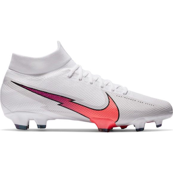 Nike Mercurial Superfly 7 Pro FG White/Flash Crimson-Photon Dust