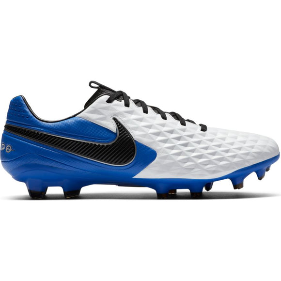 Nike Tiempo Legend 8 Pro FG White/Black-Hyper Royal-Metallic Silver