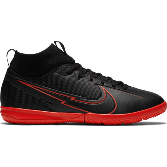 Nike Jr. Mercurial Superfly 7 Academy IC Kids' Indoor Futsal Soccer Shoe Black/Red