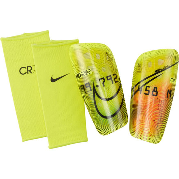 Nike Mercurial Lite CR7 Soccer Shin Guards 	LEMON VENOM/TOTAL ORANGE/BLACK