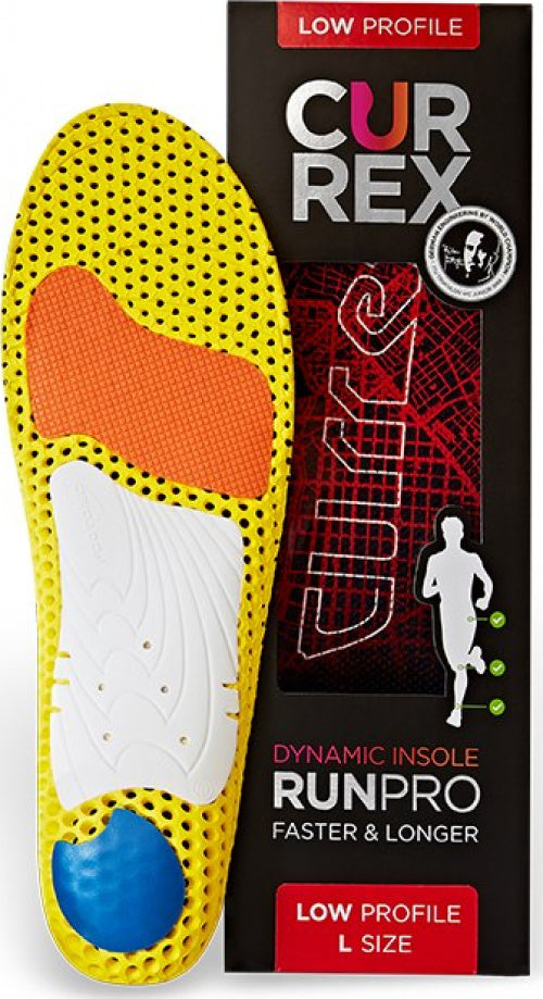 currex RUNPRO Performance Insoles LOW PROFILE RED