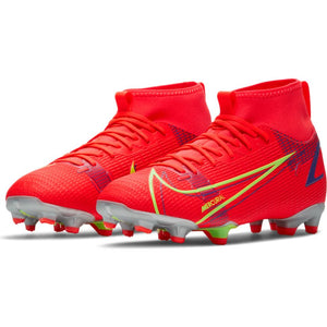 Nike Jr. Mercurial Superfly 8 Academy MG Bright Crimson/Metallic Silver