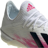 adidas X 19.1 TF Mens Turf Soccer Shoes White/Core Black/Shock Pink