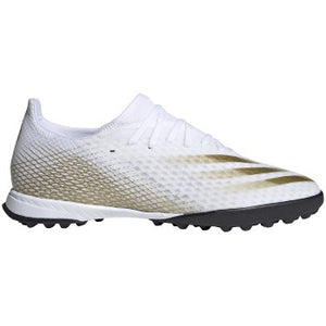 adidas X GHOSTED.3 TF Men's Soccer Shoes White/Gold/Black