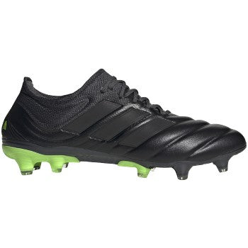 adidas Copa 20.1 FG Mens Leather Soccer Cleats Black/Green