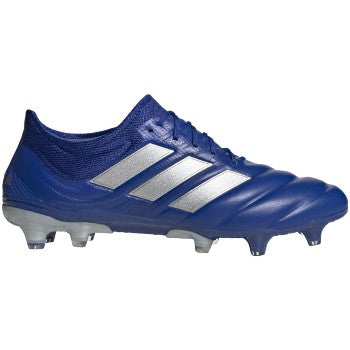 adidas Copa 20.1 FG Mens Leather Soccer Cleats Royal/White