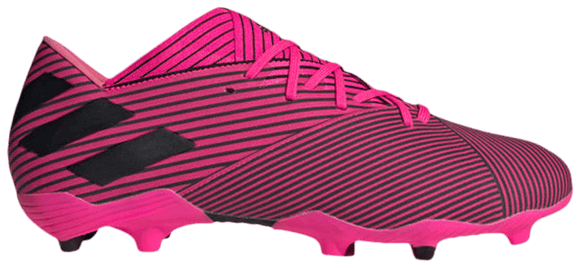 adidas Nemeziz 19.2 FG Soccer Cleats Shock Pink Black