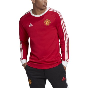 adidas Men's Manchester United Longsleeve Icons Tee