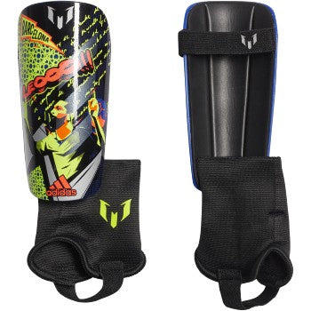 adidas Messi Match Shin Guards Royal Blue / Black / Solar Yellow
