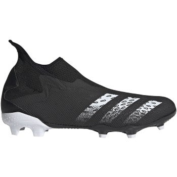 adidas Predator Freak .3 Laceless FG Soccer Cleats Black/White
