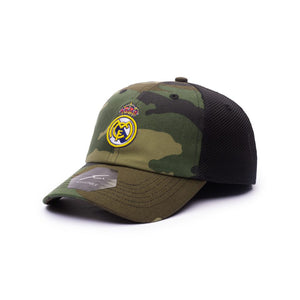 Real Madrid – Camo Classic Trucker Baseball Hat (Fi Collection)