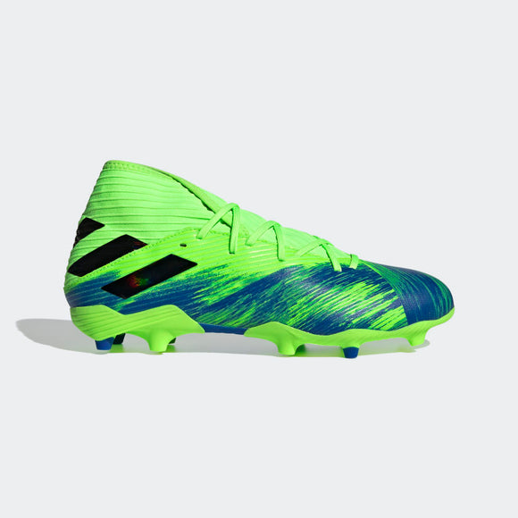 adidas Nemeziz 19.3 FG Cleats Signal Green / Core Black / Royal Blue