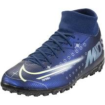Nike Mercurial Superfly 7 Academy MDS TF Soccer Shoe - Blue Void/Metallic Silver/White/Black