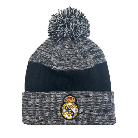 Real Madrid Pom Beanie Black/Grey