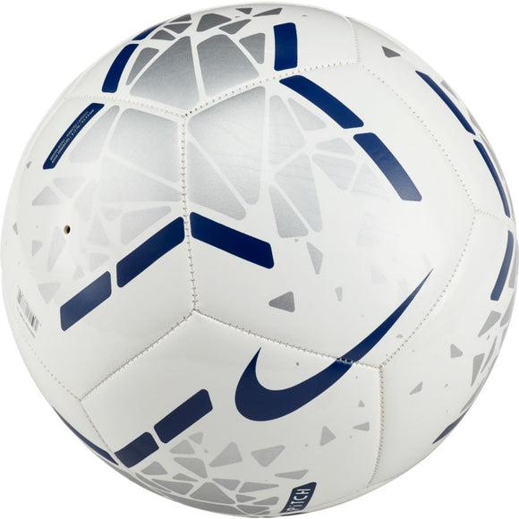 Nike Pitch Soccer Ball White Silver Navy