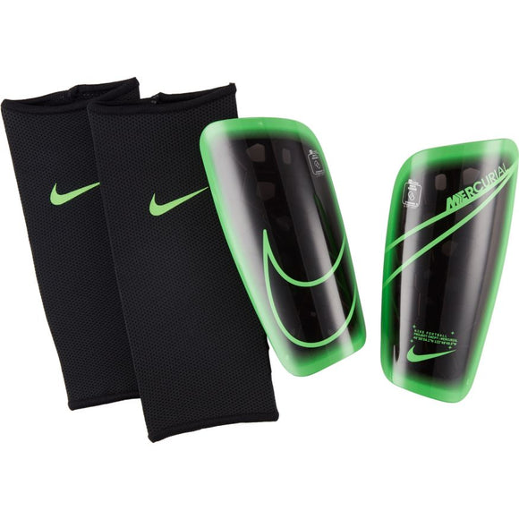 Nike Mercurial Lite Soccer Shin Guards 	Black/Green Strike/Green Strike
