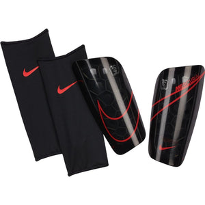 Nike Mercurial Lite Soccer Shin Guards 	Black/Black/Chile Red