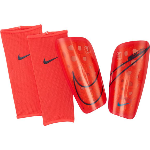 Nike Mercurial Lite Soccer Shinguards with Sleeves Black/White