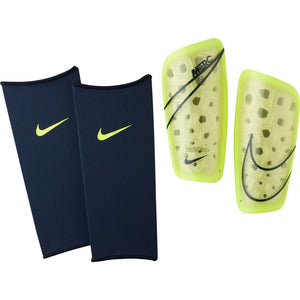 Nike Mercurial Lite Soccer Shinguards with Sleeves Yellow Black