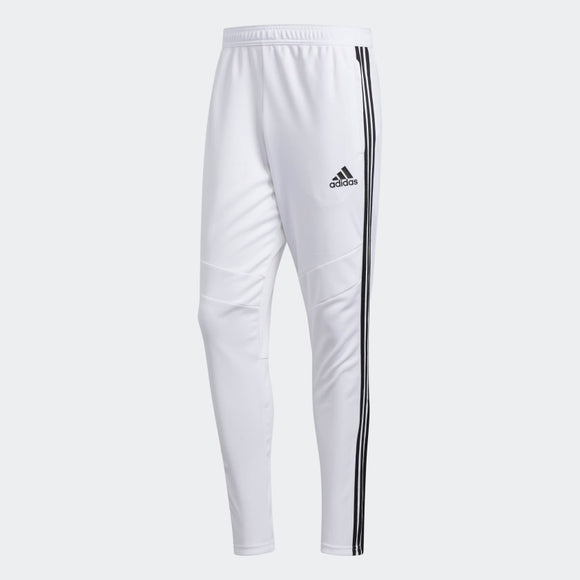 adidas Men's Tiro 19 Training Soccer Pants White Black