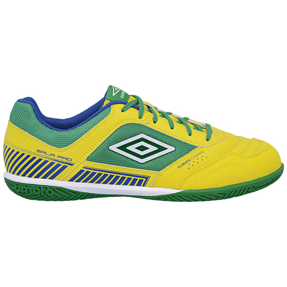 Umbro Sala II Pro Futsal Shoes Yellow Green White