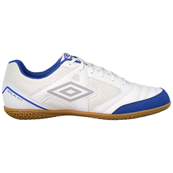 Umbro Sala CT Youth Indoor Futsal Shoes White Royal Blue