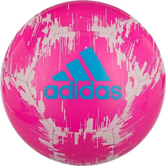 adidas Glider Soccer Ball Pink White