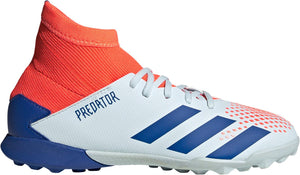 adidas Predator 20.3 Youth Turf Soccer Shoes Sky tint-Team royal blue-Signal coral