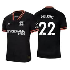 Chelsea FC 2019/20 Stadium Third Big Kids' Soccer Jersey Pulisic #22