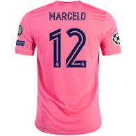 adidas Real Madrid Men's 2020/21 Away Jersey Spring Pink Marcelo #12