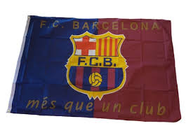 Barcelona `Mes Que Un Club` Flag