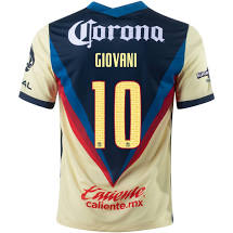 Nike Club América Men's 2020/21 Stadium Home  Soccer Jersey - Giovanni Custom