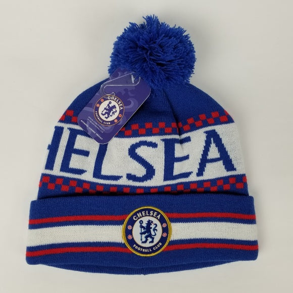 Chelsea F.C. Pom Beanie Blue/White/Red