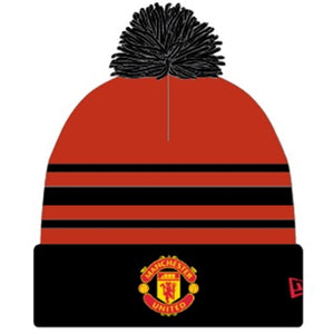 Manchester United Knitted New Era Red & Black Pom Beanie