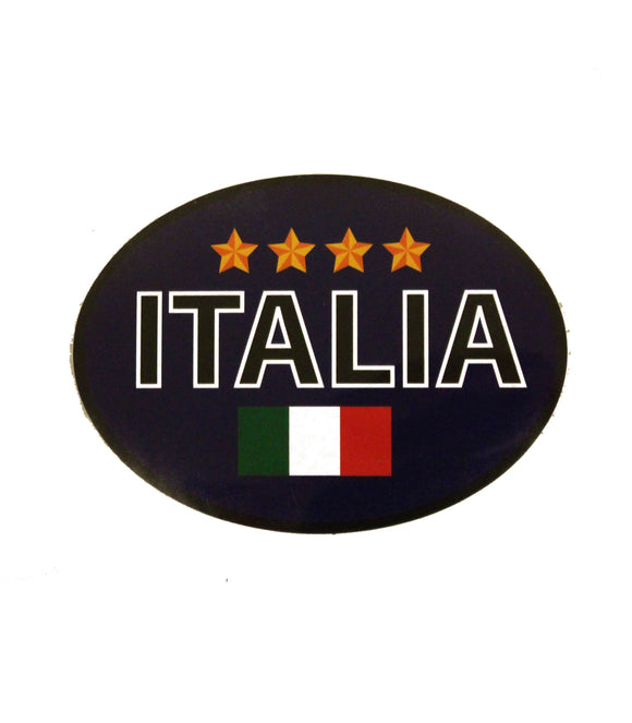 Italia Oval Decal – Blue 4-Stars