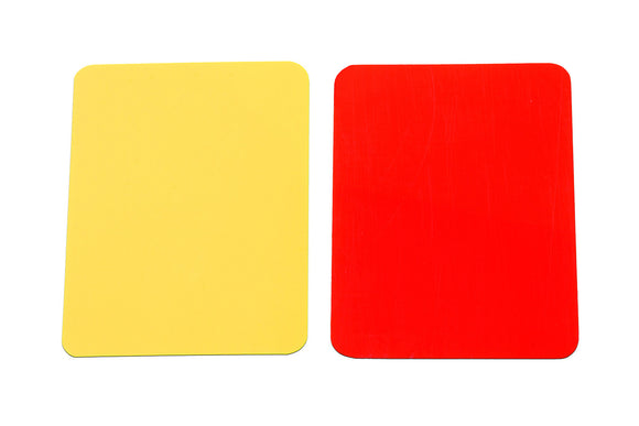 KwikGoal Soccer Referee Red and Yellow Card Set