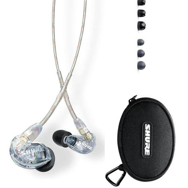 Shure SE215-CL In-Ear Monitoring Headphones (Clear)