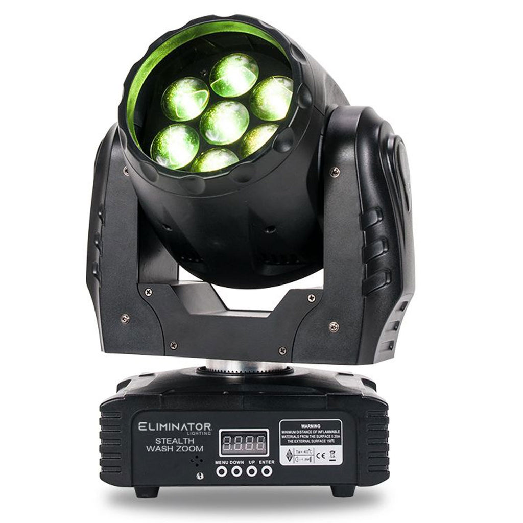 Eliminator Lighting Stealth Wash Zoom Moving Head Fixture