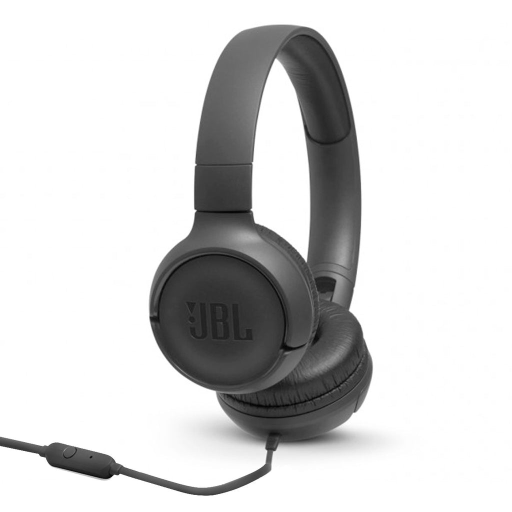 JBL TUNE 500 Wired On-Ear Headphones with microphone (Black)
