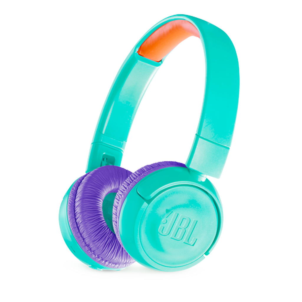 JBL Kids Wireless JR300BTTELAM On-Ear Headphones (Tropic Teal)