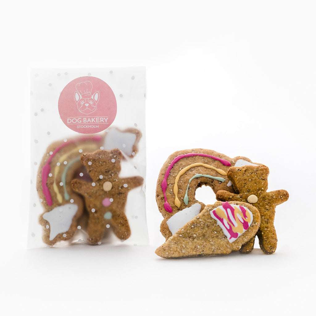 Gulliga och goda hundkakor med roliga former. Cute and delicious dog cookies in fun shapes.