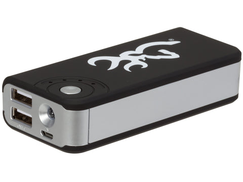 Browning USB Power Bank with Flashlight