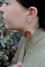 Load image into Gallery viewer, Large Copper Disc Earrings