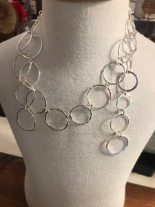 Make a statement with a 60cm long unique sterling silver chain