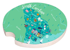 Simply Southern South Carolina Car Coaster
