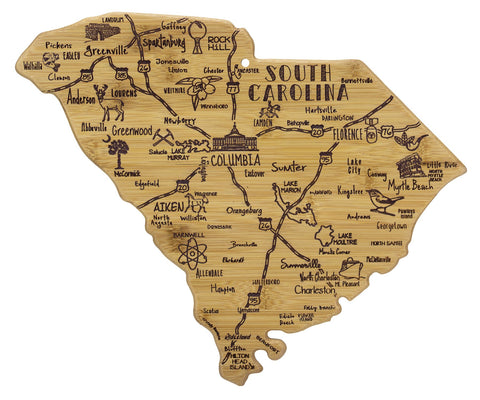 South Carolina Bamboo Cutting Board