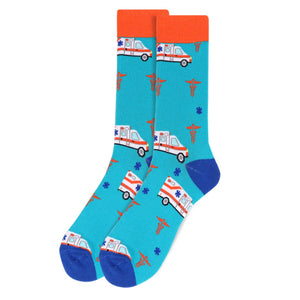 Men's Ambulance Novelty Socks